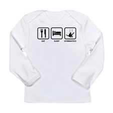 Eat Sleep Gymnastics Long Sleeve Infant T-Shirt