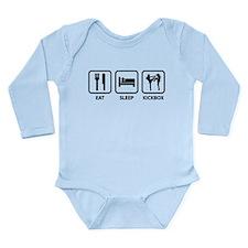 Eat Sleep Kickbox Long Sleeve Infant Bodysuit