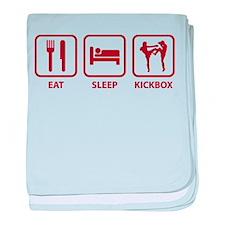 Eat Sleep Kickbox baby blanket