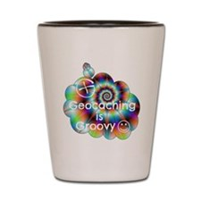 Geocaching is Groovy Shot Glass