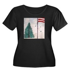 Old Glory in the Winter T