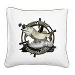 Fishing legend Square Canvas Pillow