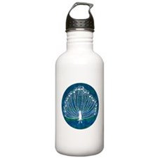 White Peacock Water Bottle
