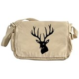 stag heart cervine antler buck deer Messenger Bag