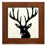 stag heart cervine antler buck deer Framed Tile