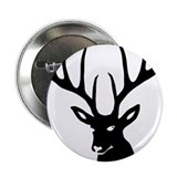 "stag heart cervine antler buck deer 2.25"" Button"