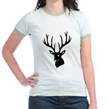 stag heart cervine antler buck deer T