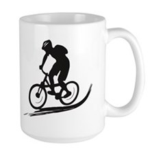 biker mtb mountain bike cycle downhill Mug