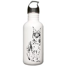 lynx cougar wild cat bobcat Water Bottle