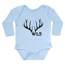 wild antler stag deer cervine buck Onesie Romper Suit