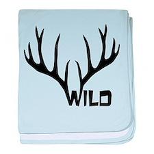 wild antler stag deer cervine buck baby blanket