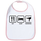 Eat Sleep Taekwondo Bib