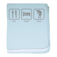 Eat Sleep Tagg baby blanket