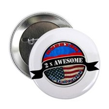 "Russian American 2 x Awesome 2.25"" Button (10 pack"