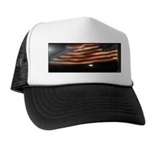 American Flag and Blue Moon 2012 Trucker Hat