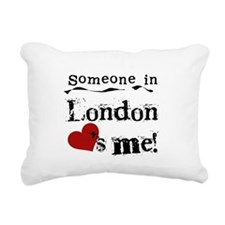 lovesmelondon.png Rectangular Canvas Pillow