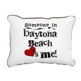 LOVESMEDAYTONABEACH.png Rectangular Canvas Pillow