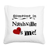 LOVESMENASHVILLE.png Square Canvas Pillow