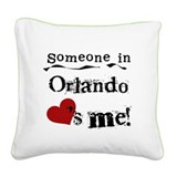 LOVESMEORLANDO.png Square Canvas Pillow
