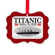 Titanic GhostShip (w/red) Pic Frame Ornament/Ribbo