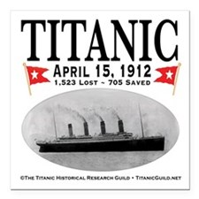 "Titanic Ghost Ship (white) Square Car Magnet 3"" x"