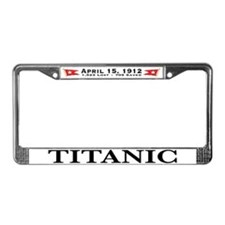 Titanic Ghost Ship (white) License Plate Frame