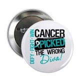"Cervical Cancer Wrong Diva 2.25"" Button"