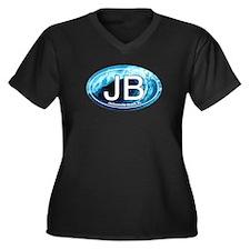 JB Jacksonville Beach Wave Women's Plus Size V-Nec
