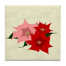 Poinsettias Tile Coaster