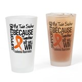 Support Twin Sister Leukemia Drinking Glass