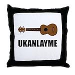 Ukanlayme Ukulele Throw Pillow