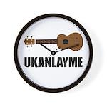 Ukanlayme Ukulele Wall Clock