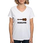 Ukanlayme Ukulele Women's V-Neck T-Shirt