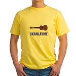 Ukanlayme Ukulele Yellow T-Shirt