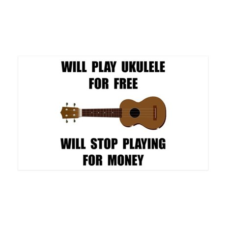 Ukulele Playing 35x21 Wall Decal