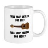 Ukulele Playing Small Mug