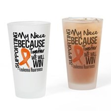 Support Niece Leukemia Drinking Glass