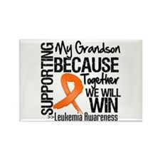 Support Grandson Leukemia Rectangle Magnet (100 pa