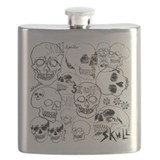 Sketchbook Skulls Flask