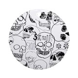 Sketchbook Skulls Ornament (Round)