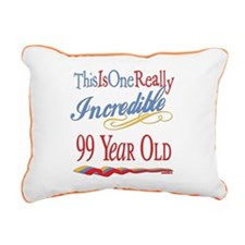 Incredibleat99.png Rectangular Canvas Pillow