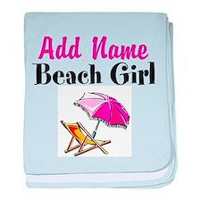 BEACH GIRL baby blanket