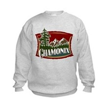 Chamonix Mountain Banner Sweatshirt