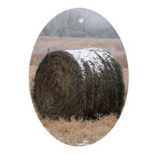 Hay Roll Oval Ornament
