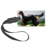 Gordon Setter Grunge Luggage Tag