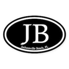 JB Jacksonville Beach Oval Decal