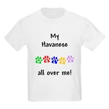 Havanese Walks Kids T-Shirt