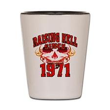 Raising Hell since 1971.png Shot Glass