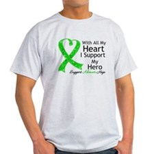 Support Hero Green Ribbon T-Shirt