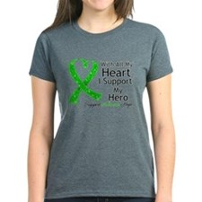 Support Hero Green Ribbon Tee